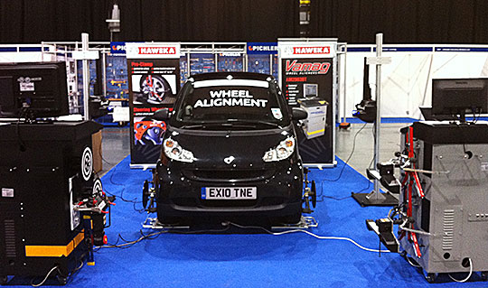 Vamag New Dimension 3D wheel alignment system at Mechanex